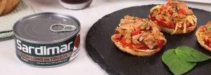 mini pizzas atun sardimar y tomate
